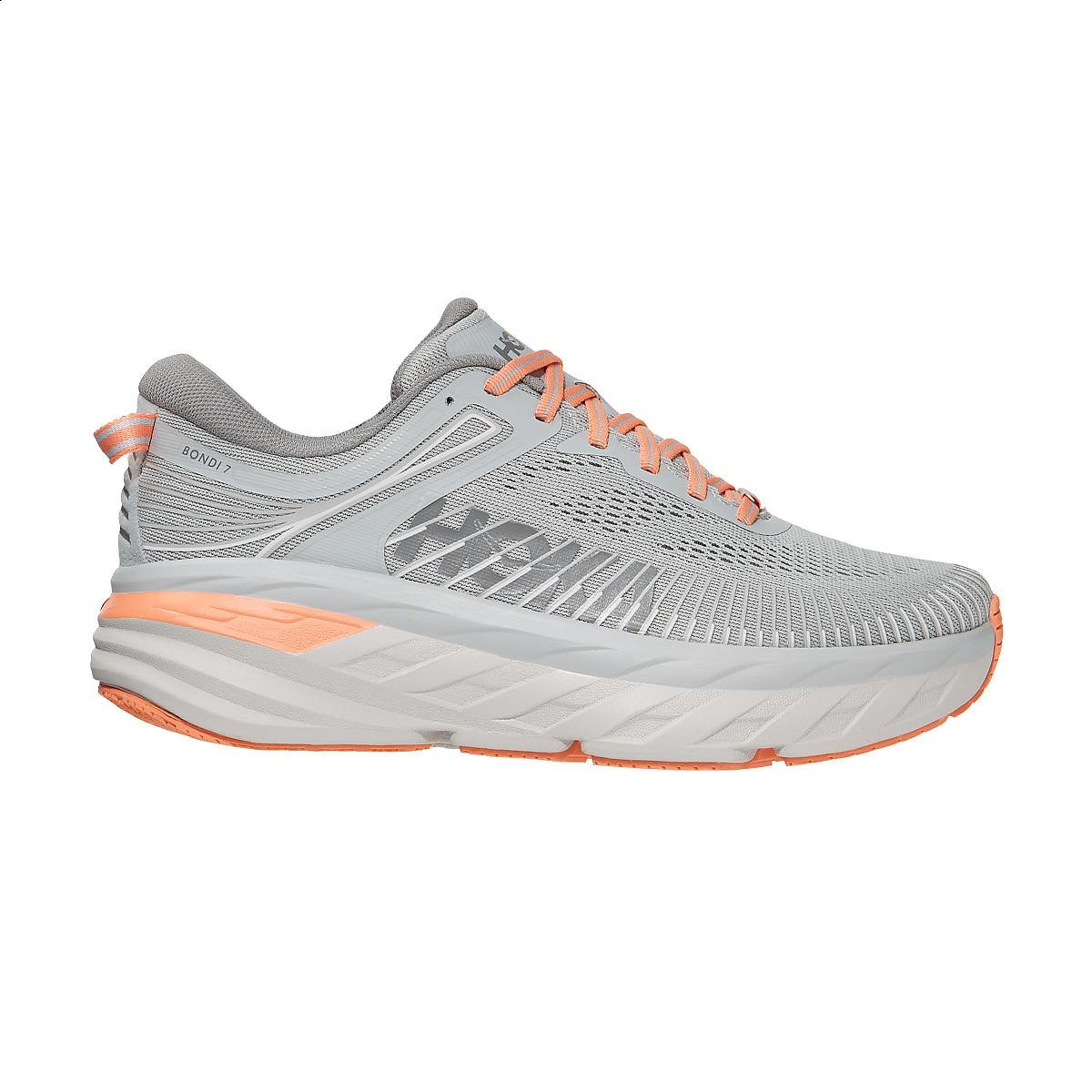 Women's Hoka One One Bondi 7 Running Shoe - Color: Harbor Mist/Sharkskin - Size: 5 - Width: Regular, Harbor Mist/Sharkskin, large, image 2
