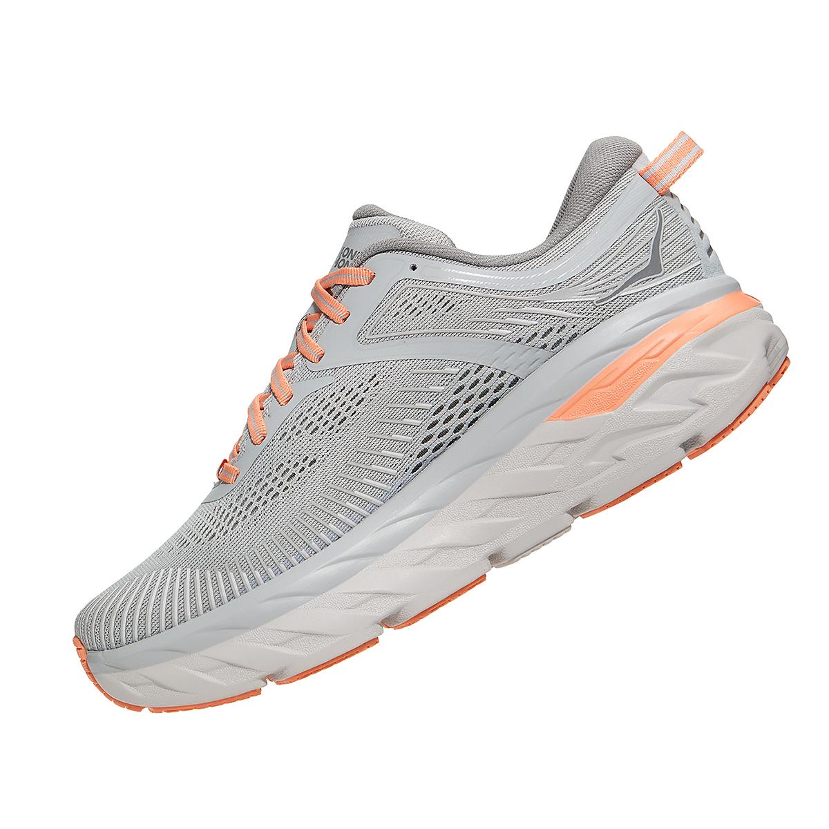 Women's Hoka One One Bondi 7 Running Shoe - Color: Harbor Mist/Sharkskin - Size: 5 - Width: Regular, Harbor Mist/Sharkskin, large, image 3
