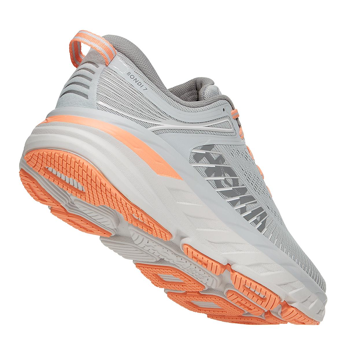 Women's Hoka One One Bondi 7 Running Shoe - Color: Harbor Mist/Sharkskin - Size: 5 - Width: Regular, Harbor Mist/Sharkskin, large, image 4
