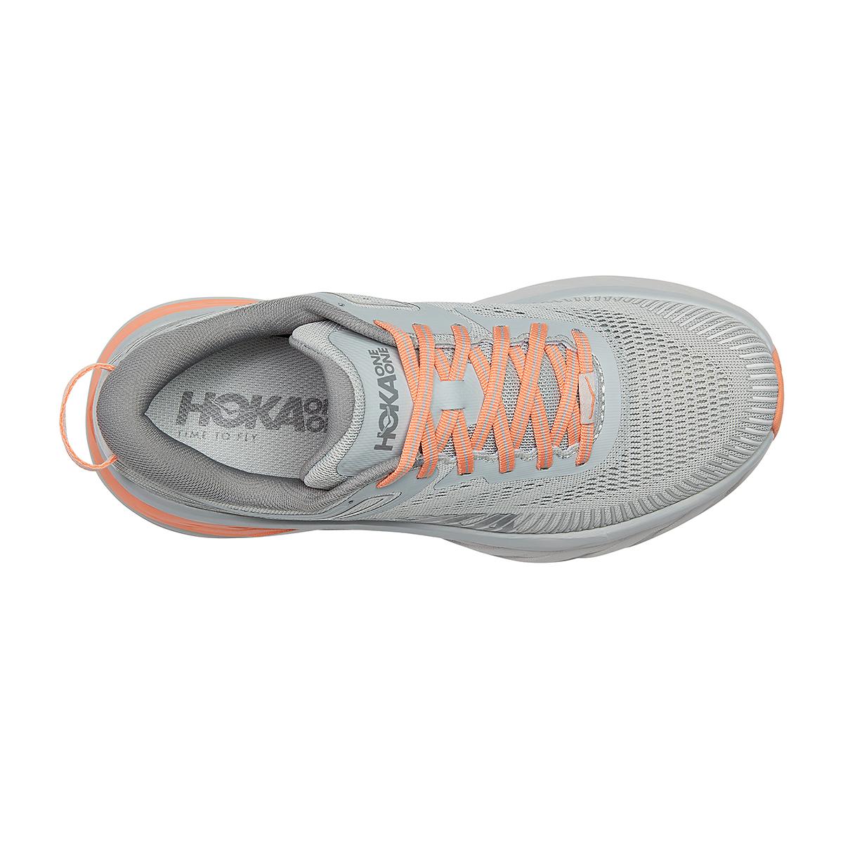 Women's Hoka One One Bondi 7 Running Shoe - Color: Harbor Mist/Sharkskin - Size: 5 - Width: Regular, Harbor Mist/Sharkskin, large, image 5