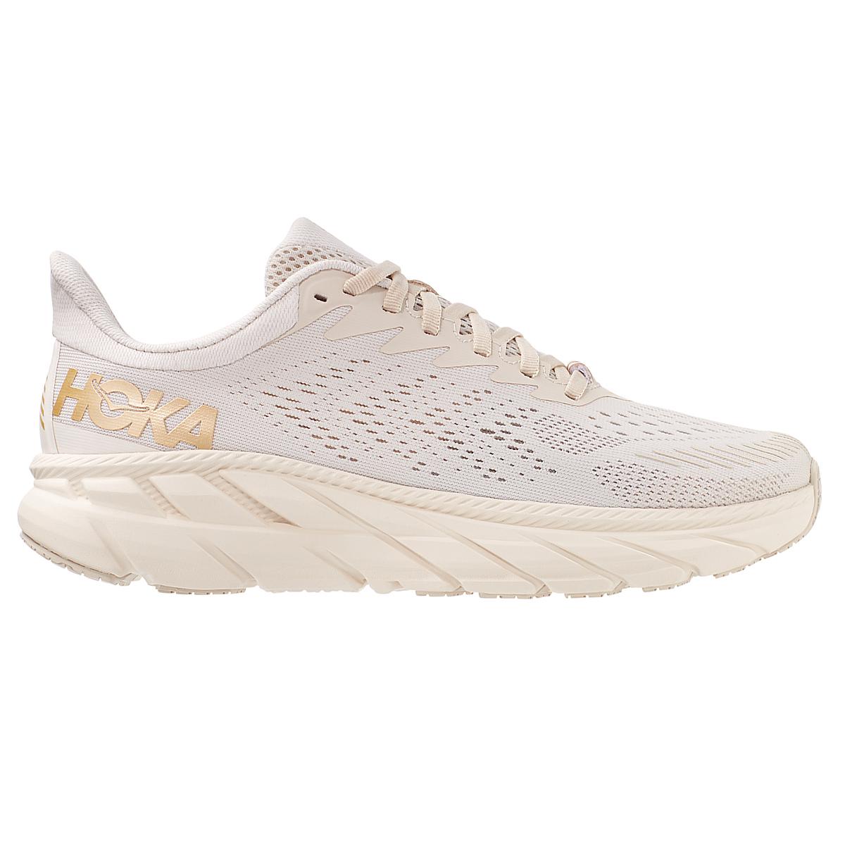 Women's Hoka One One Clifton 7 Running Shoe - Color: Almond Milk/Bronze - Size: 5 - Width: Regular, Almond Milk/Bronze, large, image 2