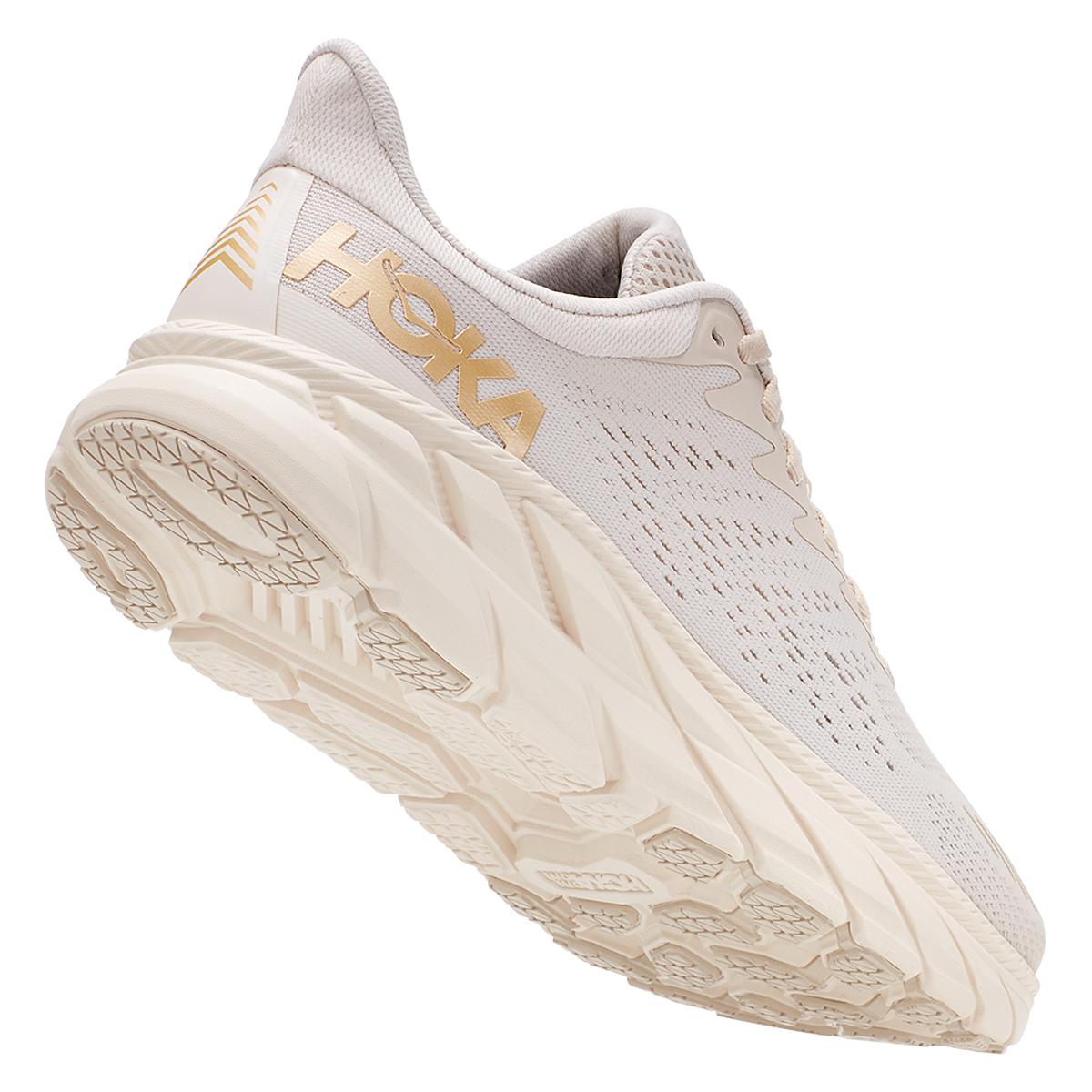 Women's Hoka One One Clifton 7 Running Shoe - Color: Almond Milk/Bronze - Size: 5 - Width: Regular, Almond Milk/Bronze, large, image 3