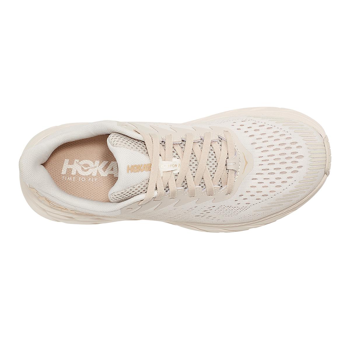 Women's Hoka One One Clifton 7 Running Shoe - Color: Almond Milk/Bronze - Size: 5 - Width: Regular, Almond Milk/Bronze, large, image 5