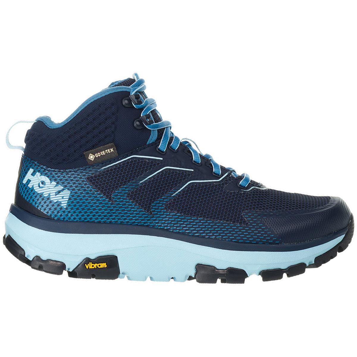 Women's Hoka One One Sky Toa Gore-Tex Trail Running Shoe - Color: Black Iris/Aquamarine - Size: 5 - Width: Regular, Black Iris/Aquamarine, large, image 1