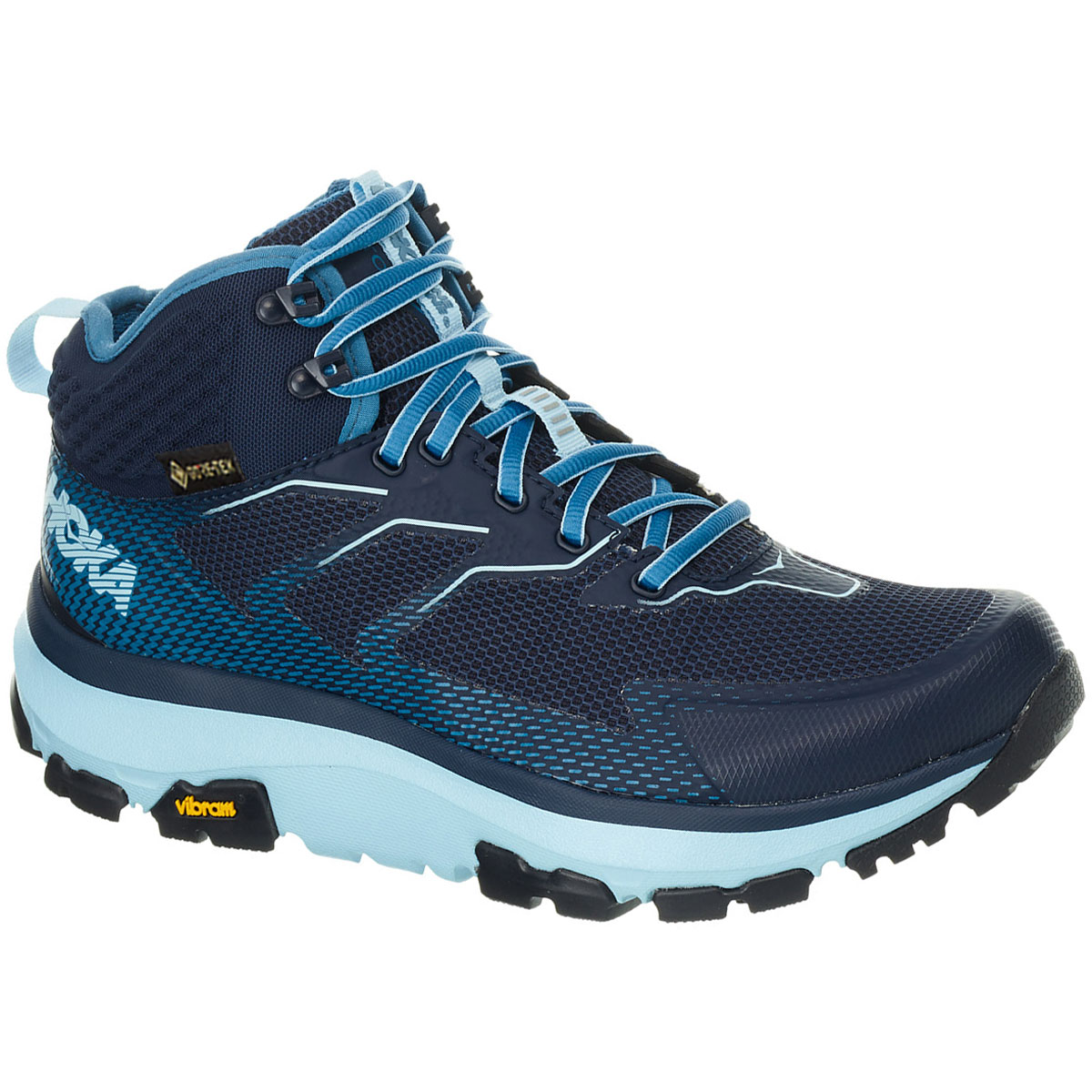 Women's Hoka One One Sky Toa Gore-Tex Trail Running Shoe - Color: Black Iris/Aquamarine - Size: 5 - Width: Regular, Black Iris/Aquamarine, large, image 2