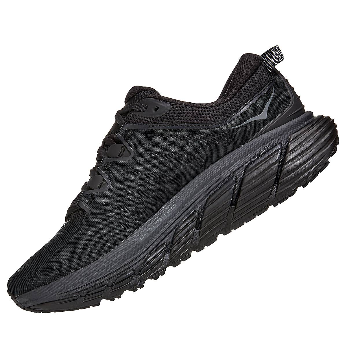 Men's Hoka One One Gaviota 3 Running Shoe - Color: Black/Black - Size: 7 - Width: Regular, Black/Black, large, image 2