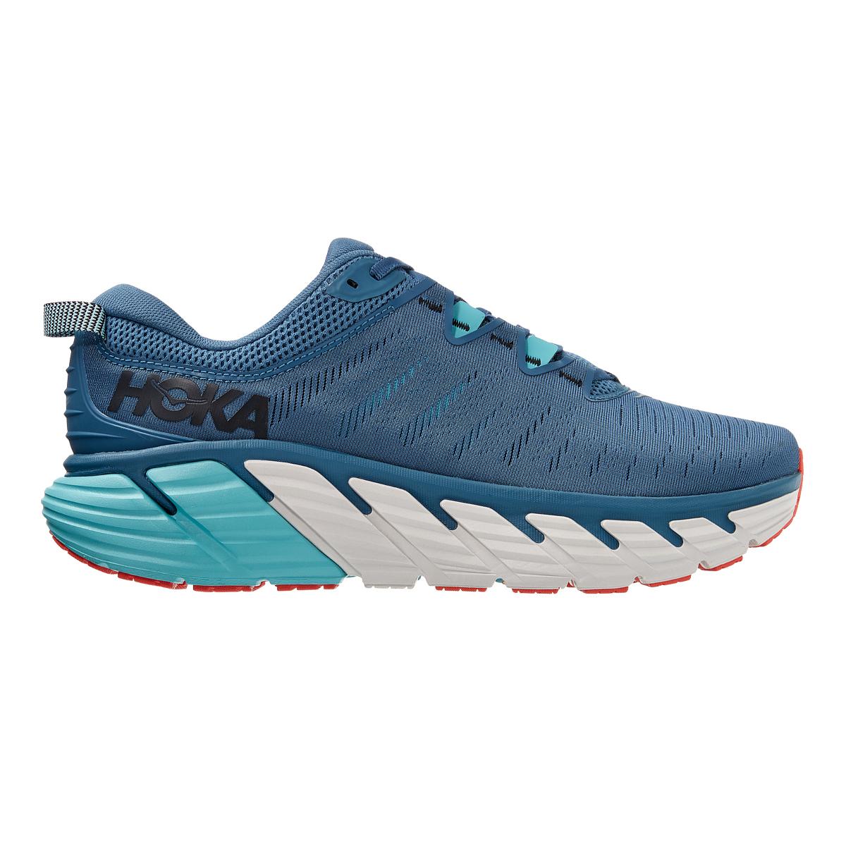 Men's Hoka One One Gaviota 3 Running Shoe - Color: Real Teal / Aquarelle - Size: 7 - Width: Regular, Real Teal / Aquarelle, large, image 1