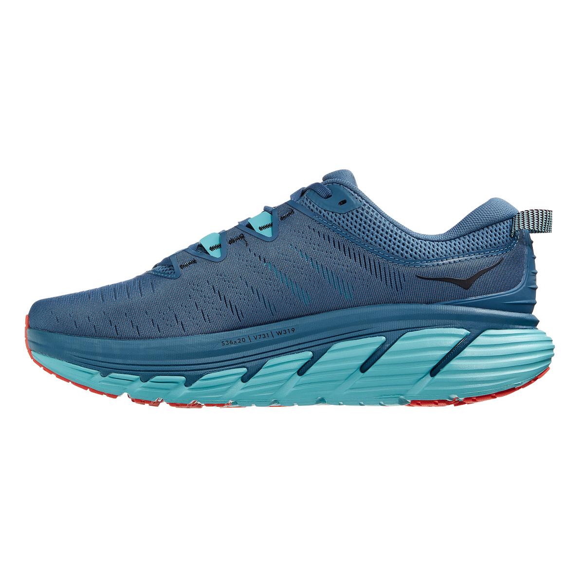 Men's Hoka One One Gaviota 3 Running Shoe - Color: Real Teal / Aquarelle - Size: 7 - Width: Regular, Real Teal / Aquarelle, large, image 2