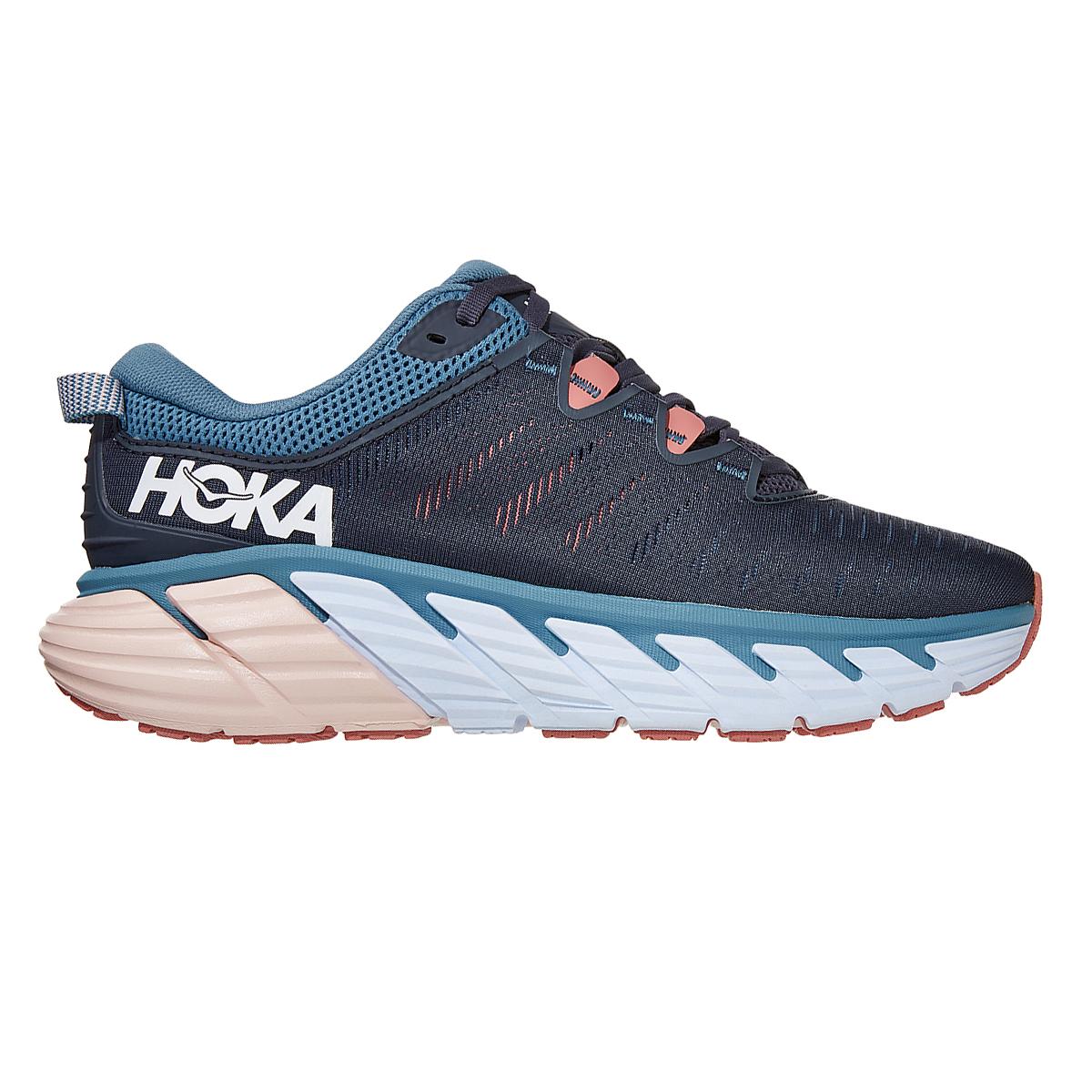 Women's Hoka One One Gaviota 3 Running Shoe - Color: Ombre Blue/Rosette - Size: 5 - Width: Regular, Ombre Blue/Rosette, large, image 1