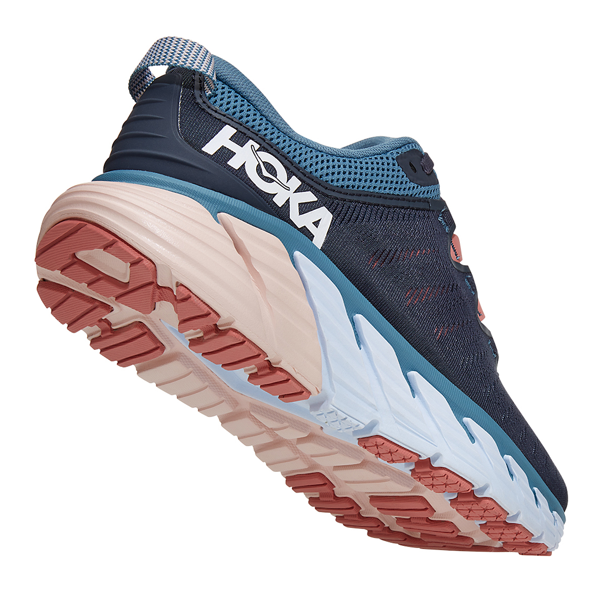 Women's Hoka One One Gaviota 3 Running Shoe - Color: Ombre Blue/Rosette - Size: 5 - Width: Regular, Ombre Blue/Rosette, large, image 3