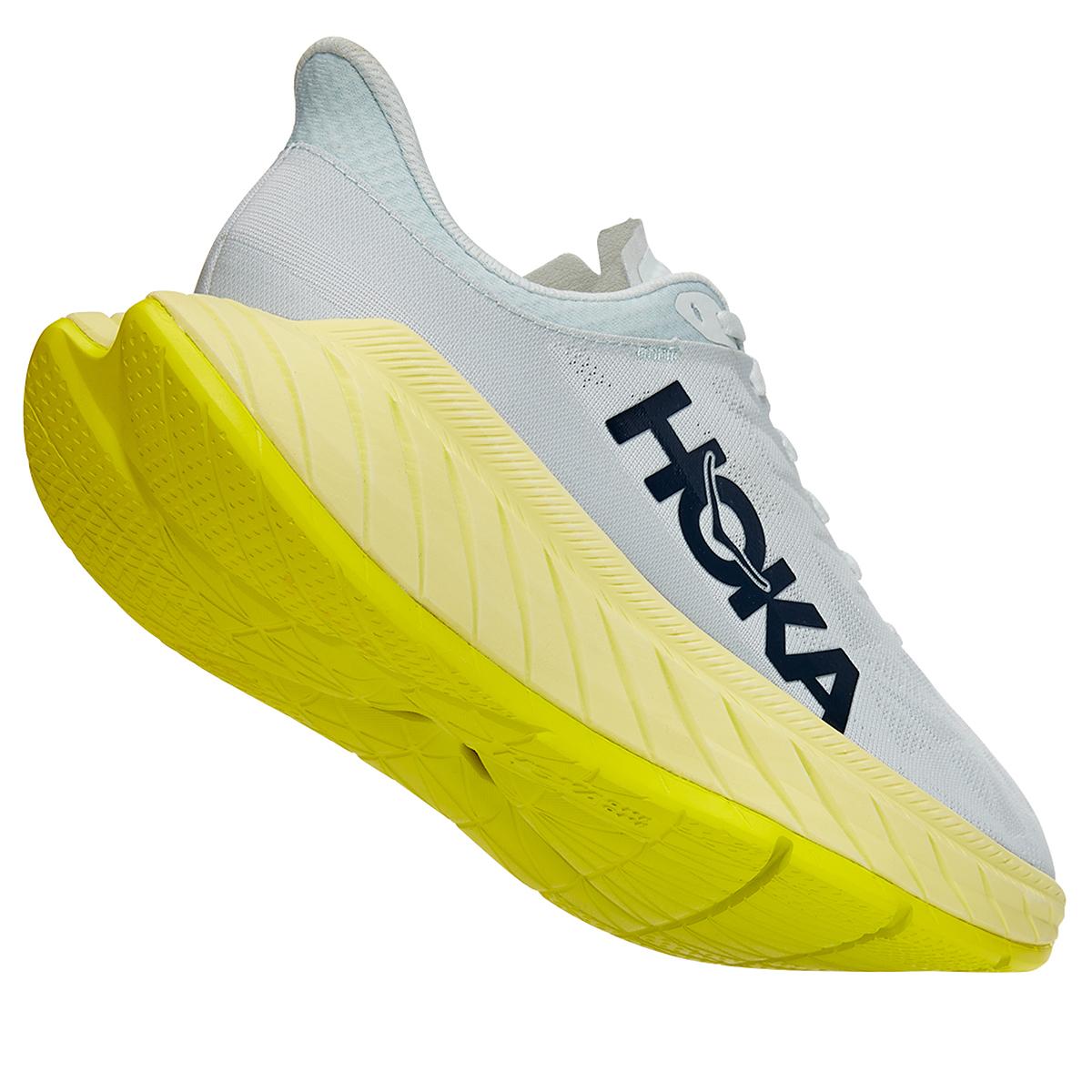 Men's Hoka One One Carbon X 2 Running Shoe - Color: Blue Flower/Luminary Green - Size: 7 - Width: Regular, Blue Flower/Luminary Green, large, image 3