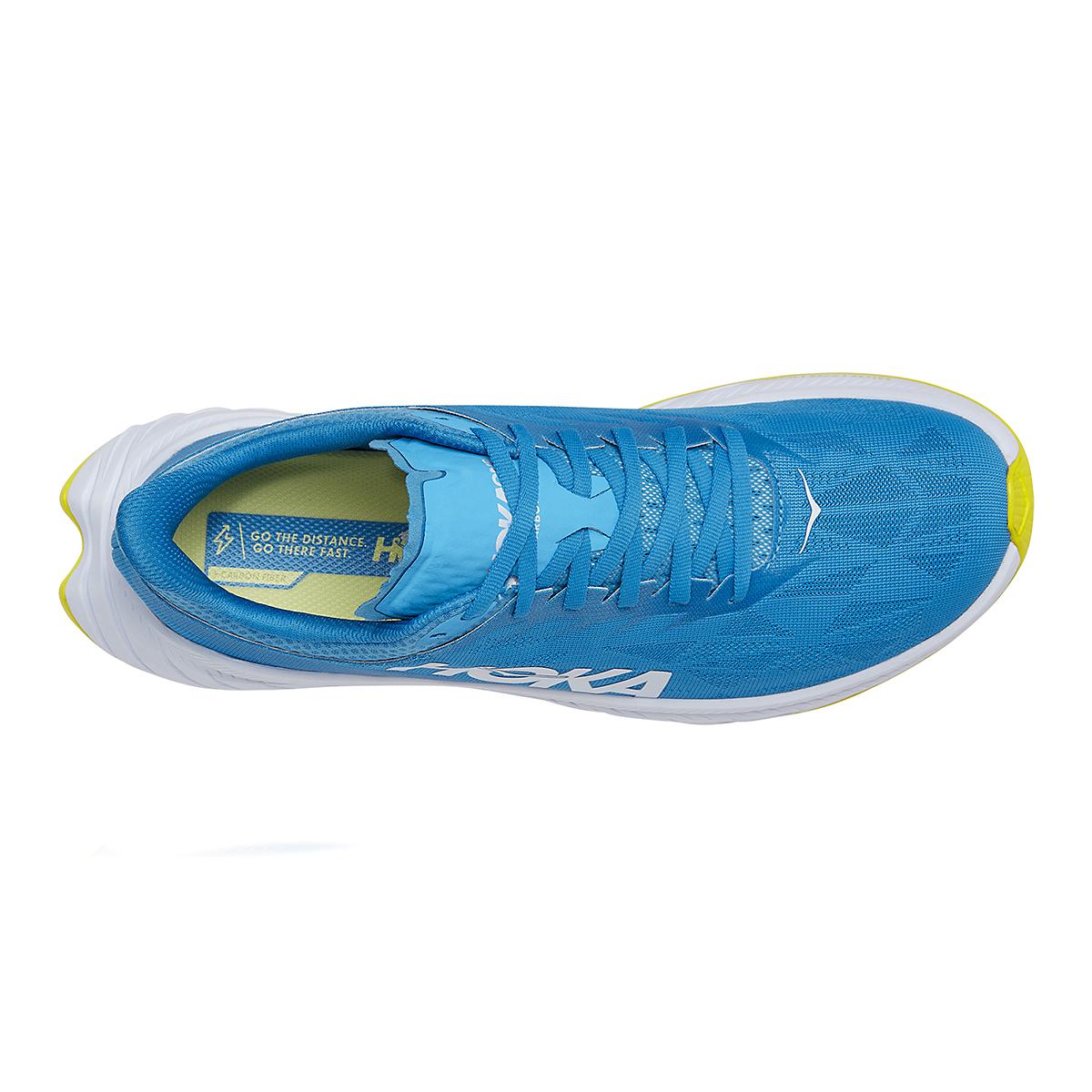 Men's Hoka One One Carbon X 2 Running Shoe - Color: Diva Blue/Citron - Size: 7 - Width: Regular, Diva Blue/Citron, large, image 5