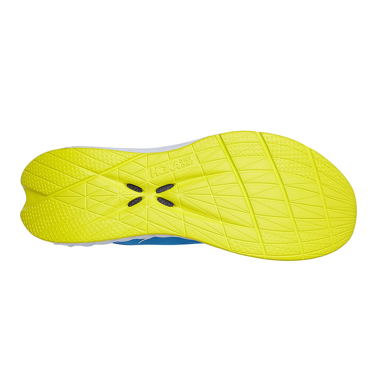 Men's Hoka One One Carbon X 2 Running Shoe - Color: Diva Blue/Citron - Size: 7 - Width: Regular, Diva Blue/Citron, large, image 6