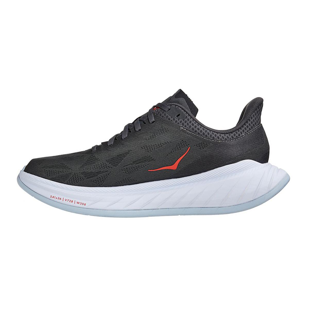 Men's Hoka One One Carbon X 2 Running Shoe - Color: Dark Shadow/Fiesta - Size: 7 - Width: Regular, Dark Shadow/Fiesta, large, image 2