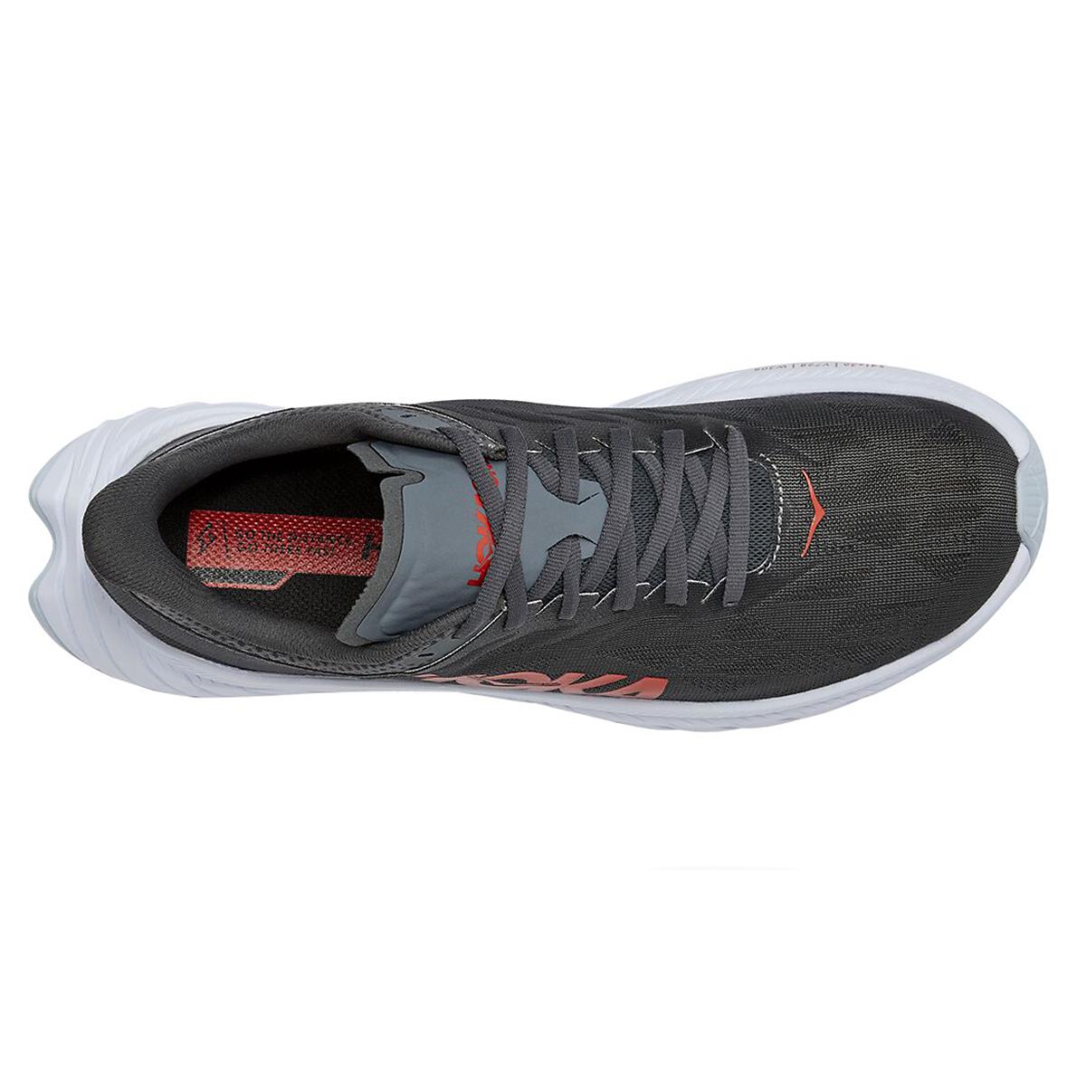 Men's Hoka One One Carbon X 2 Running Shoe - Color: Dark Shadow/Fiesta - Size: 7 - Width: Regular, Dark Shadow/Fiesta, large, image 3