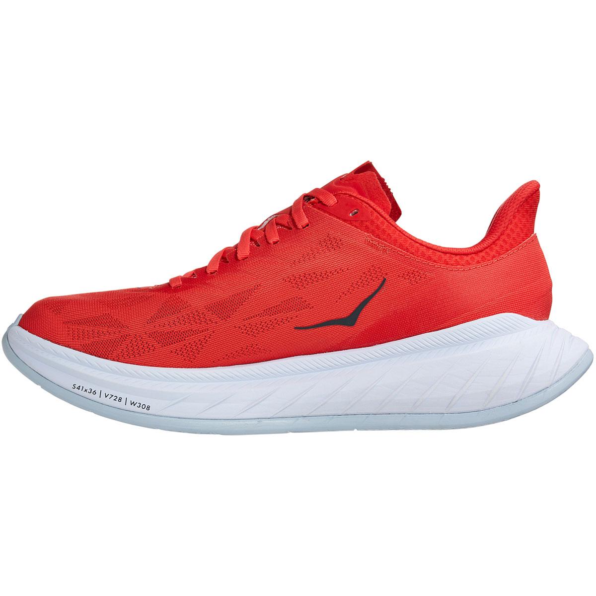 Men's Hoka One One Carbon X 2 Running Shoe - Color: Fiesta/White - Size: 9 - Width: Regular, Fiesta/White, large, image 2