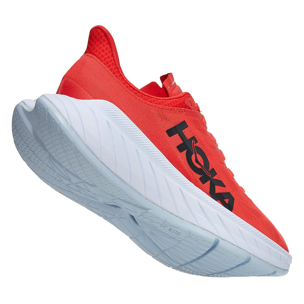 Men's Hoka One One Carbon X 2 Running Shoe - Color: Fiesta/White - Size: 9 - Width: Regular, Fiesta/White, large, image 4