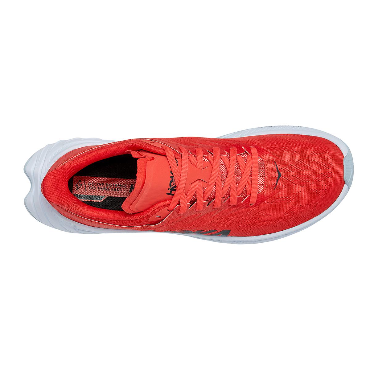 Men's Hoka One One Carbon X 2 Running Shoe - Color: Fiesta/White - Size: 9 - Width: Regular, Fiesta/White, large, image 5
