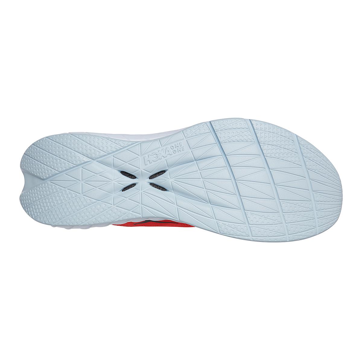 Men's Hoka One One Carbon X 2 Running Shoe - Color: Fiesta/White - Size: 9 - Width: Regular, Fiesta/White, large, image 6