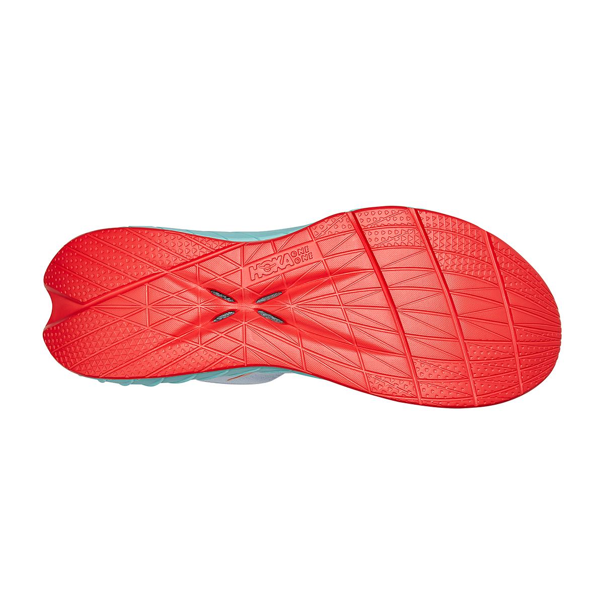 Men's Hoka One One Carbon X 2 Running Shoe - Color: White/Blazing Orange - Size: 7 - Width: Regular, White/Blazing Orange, large, image 6