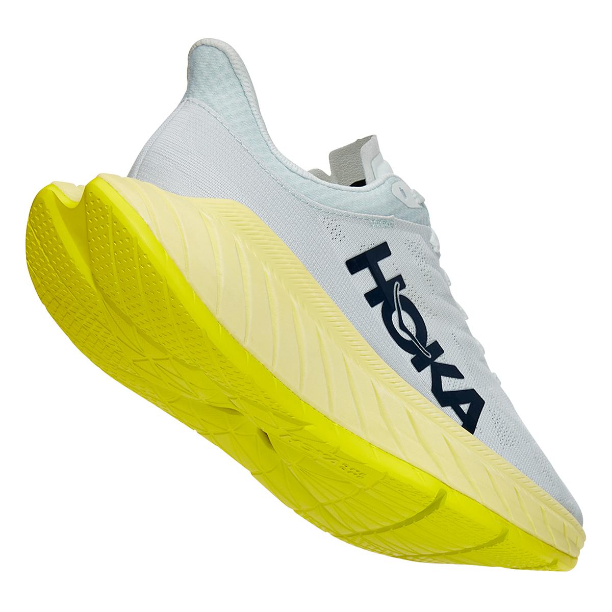 Women's Hoka One One Carbon X 2 Running Shoe - Color: Blue Flower/Luminary Green - Size: 5 - Width: Regular, Blue Flower/Luminary Green, large, image 3
