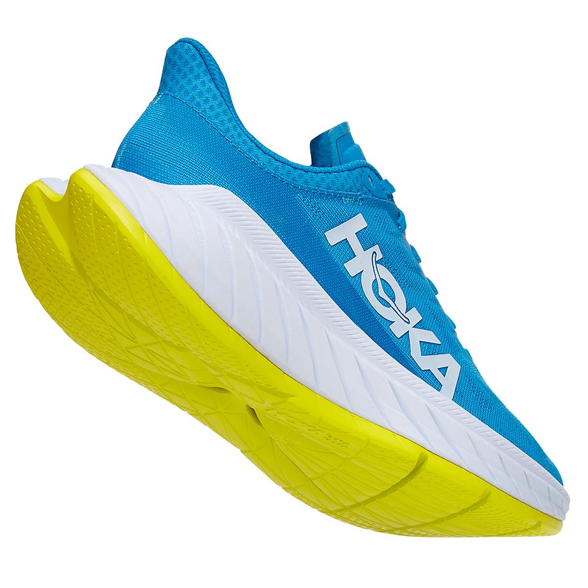 Women's Hoka One One Carbon X 2 Running Shoe - Color: Diva Blue/Citron - Size: 5 - Width: Regular, Diva Blue/Citron, large, image 4