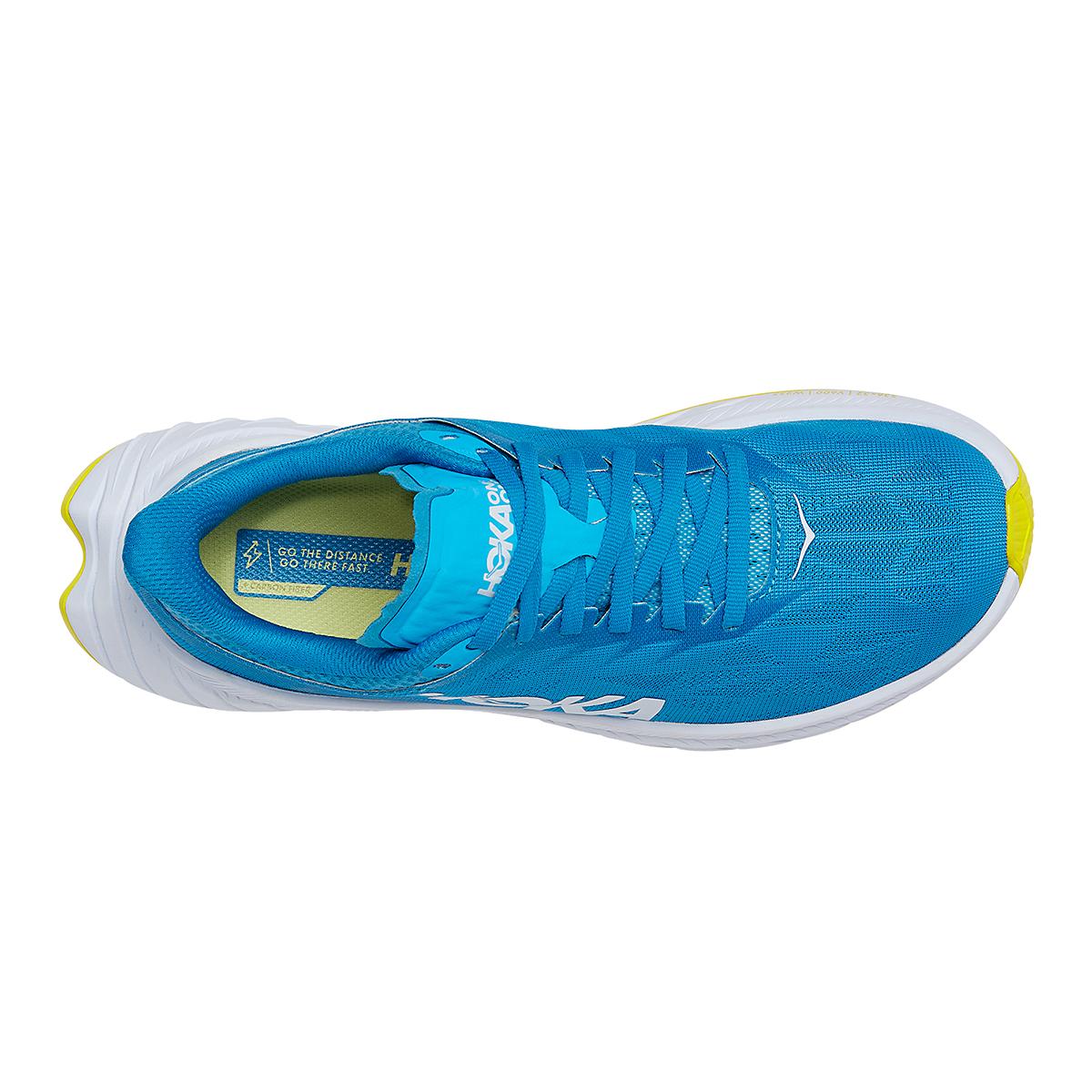 Women's Hoka One One Carbon X 2 Running Shoe - Color: Diva Blue/Citron - Size: 5 - Width: Regular, Diva Blue/Citron, large, image 5