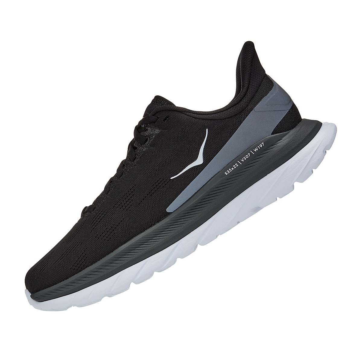 Women's Hoka One One Mach 4 Running Shoe - Color: Black/Dark Shadow - Size: 5 - Width: Regular, Black/Dark Shadow, large, image 2