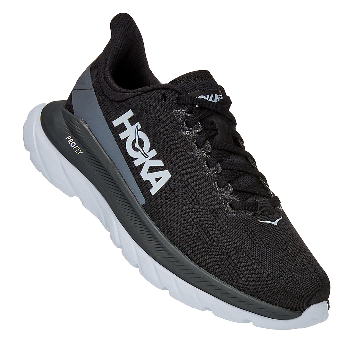 Women's Hoka One One Mach 4 Running Shoe - Color: Black/Dark Shadow - Size: 5 - Width: Regular, Black/Dark Shadow, large, image 5