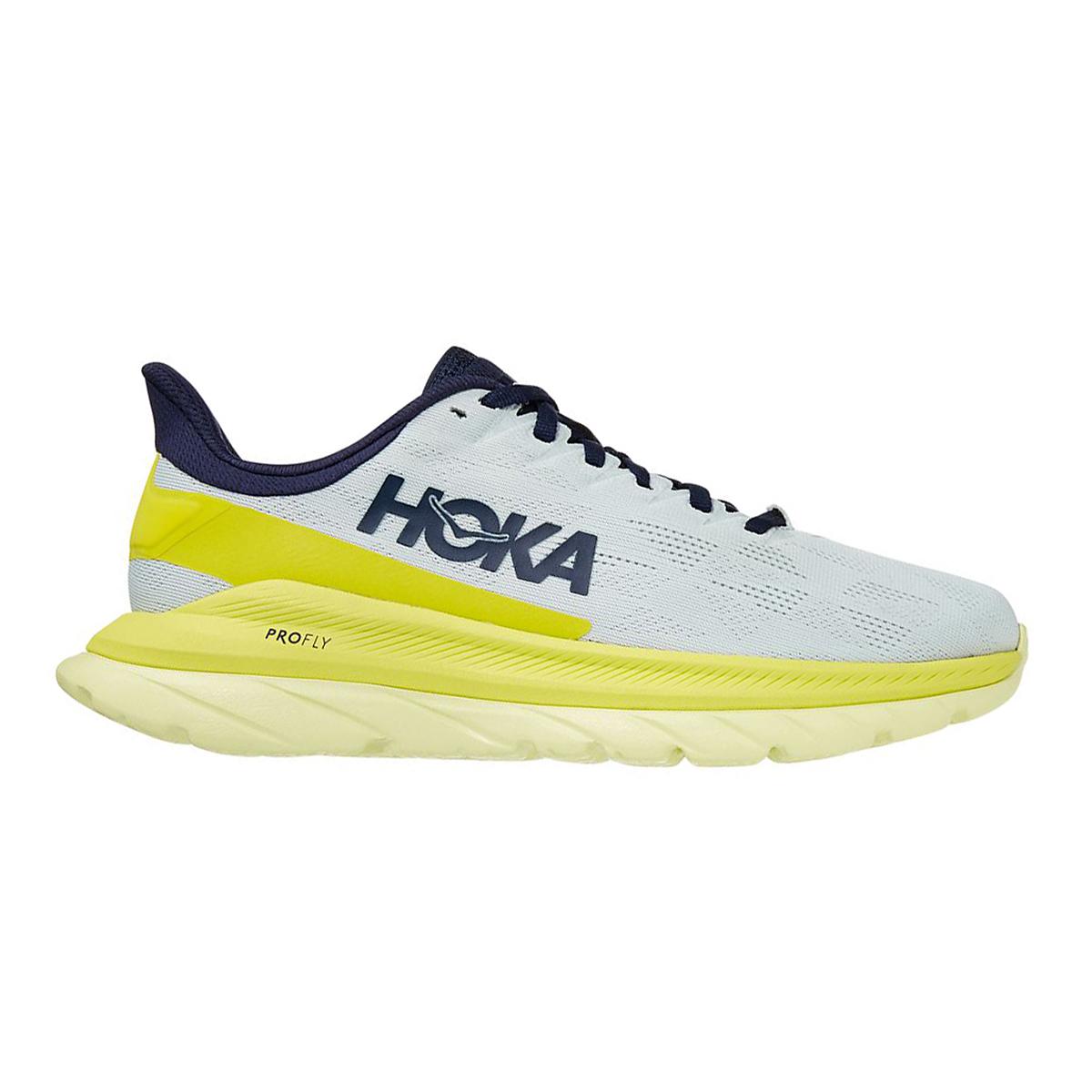 Women's Hoka One One Mach 4 Running Shoe - Color: Blue Flower/Citrus - Size: 5 - Width: Regular, Blue Flower/Citrus, large, image 1