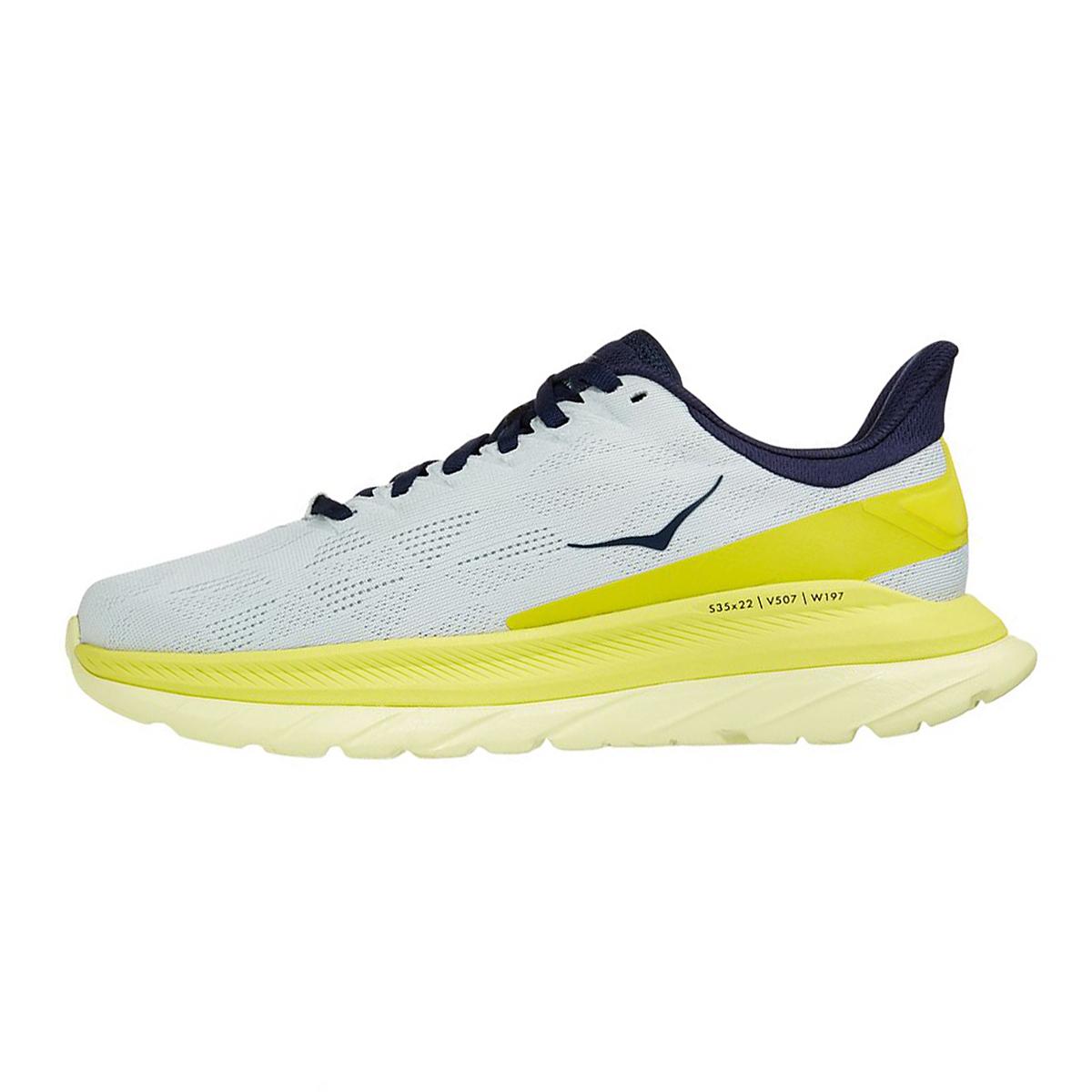 Women's Hoka One One Mach 4 Running Shoe - Color: Blue Flower/Citrus - Size: 5 - Width: Regular, Blue Flower/Citrus, large, image 2