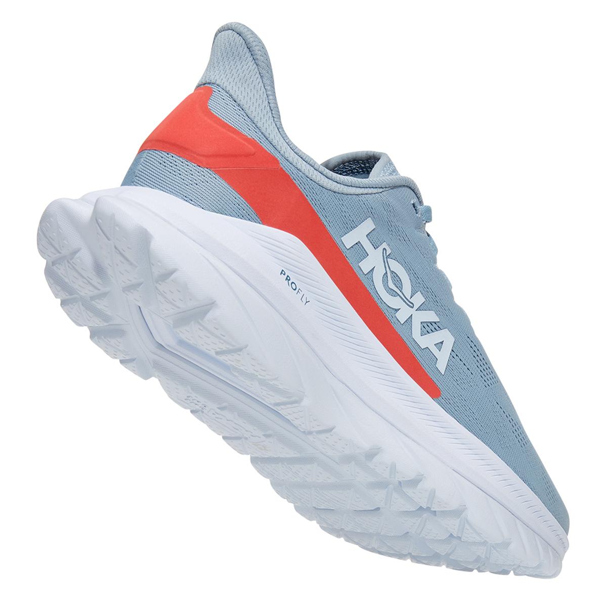 Women's Hoka One One Mach 4 Running Shoe - Color: Blue Fog/Hot Coral - Size: 5 - Width: Regular, Blue Fog/Hot Coral, large, image 5