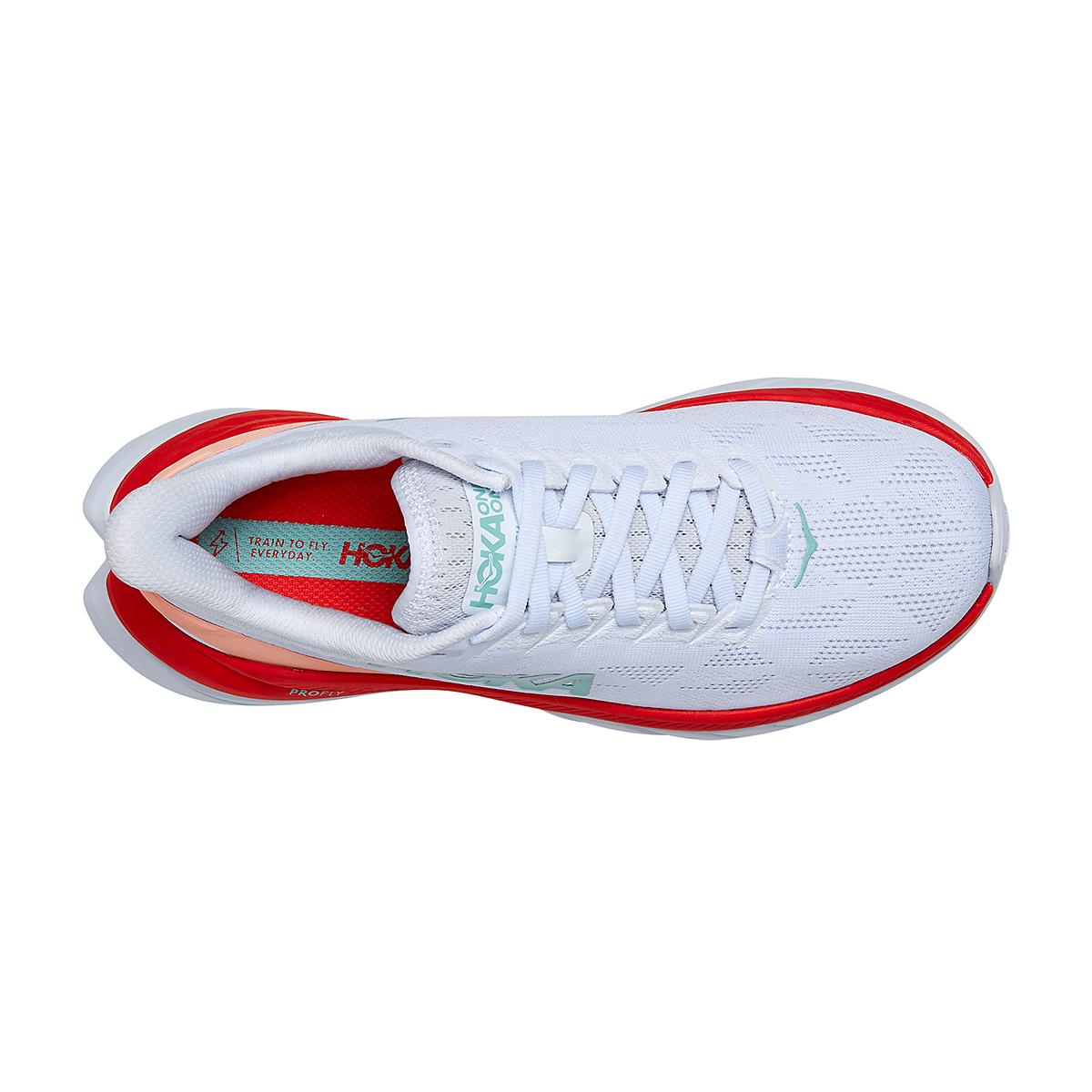 Women's Hoka One One Mach 4 Running Shoe - Color: White/Fiesta - Size: 5 - Width: Regular, White/Fiesta, large, image 5
