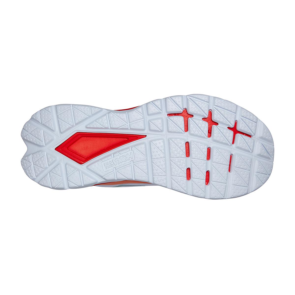 Women's Hoka One One Mach 4 Running Shoe - Color: White/Fiesta - Size: 5 - Width: Regular, White/Fiesta, large, image 6