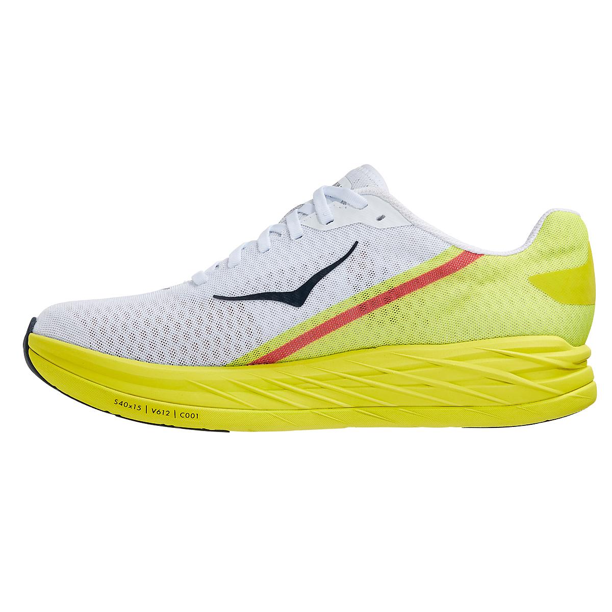Men's Hoka One One Rocket X Running Shoe - Color: White/Evening Primrose - Size: 8.5 - Width: Regular, White/Evening Primrose, large, image 2