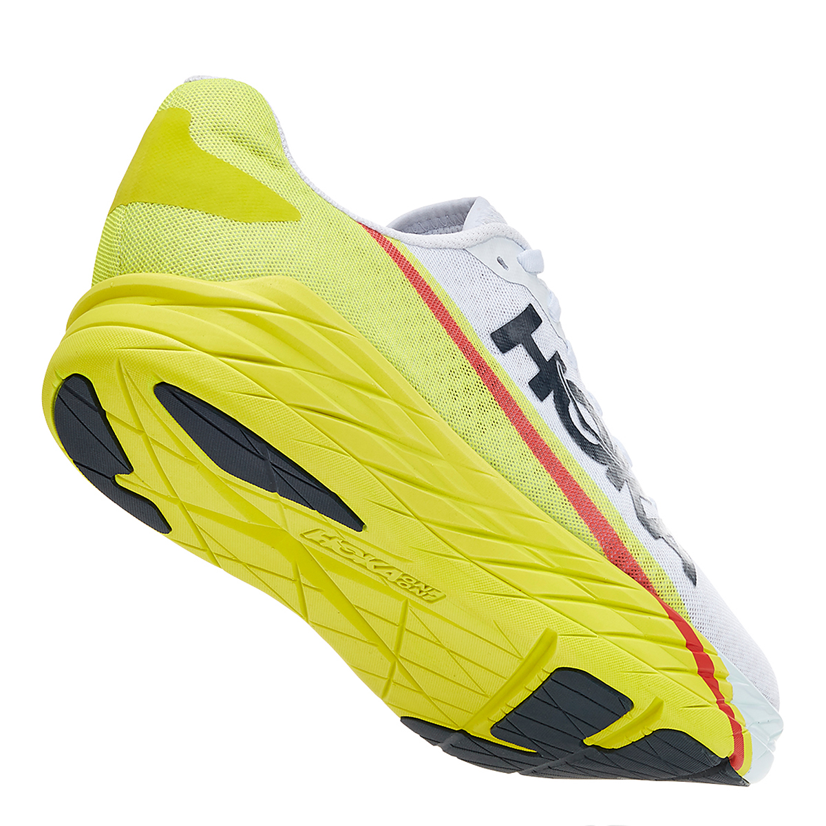 Men's Hoka One One Rocket X Running Shoe - Color: White/Evening Primrose - Size: 8.5 - Width: Regular, White/Evening Primrose, large, image 4