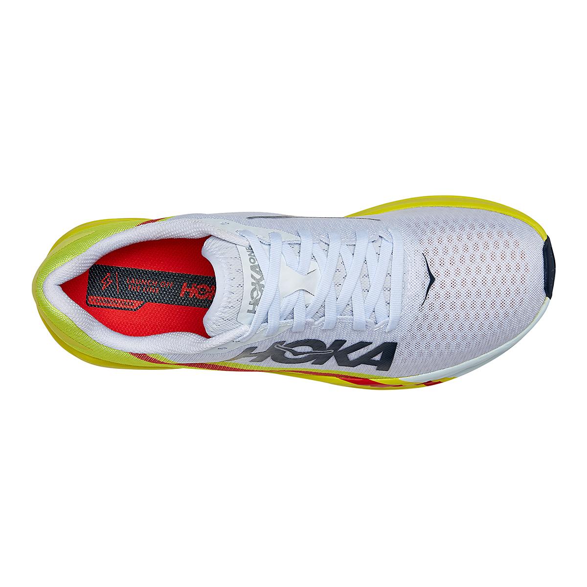 Men's Hoka One One Rocket X Running Shoe - Color: White/Evening Primrose - Size: 8.5 - Width: Regular, White/Evening Primrose, large, image 5