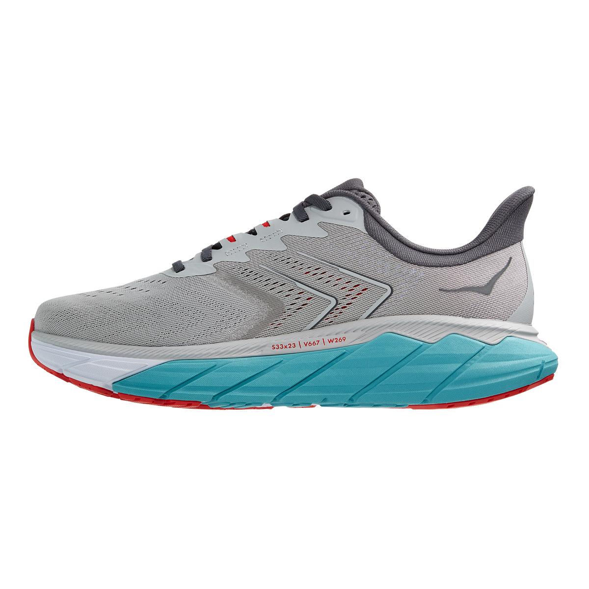 Men's Hoka One One Arahi 5 Running Shoe - Color: Harbor Mist / Aquarelle - Size: 7 - Width: Regular, Harbor Mist / Aquarelle, large, image 2
