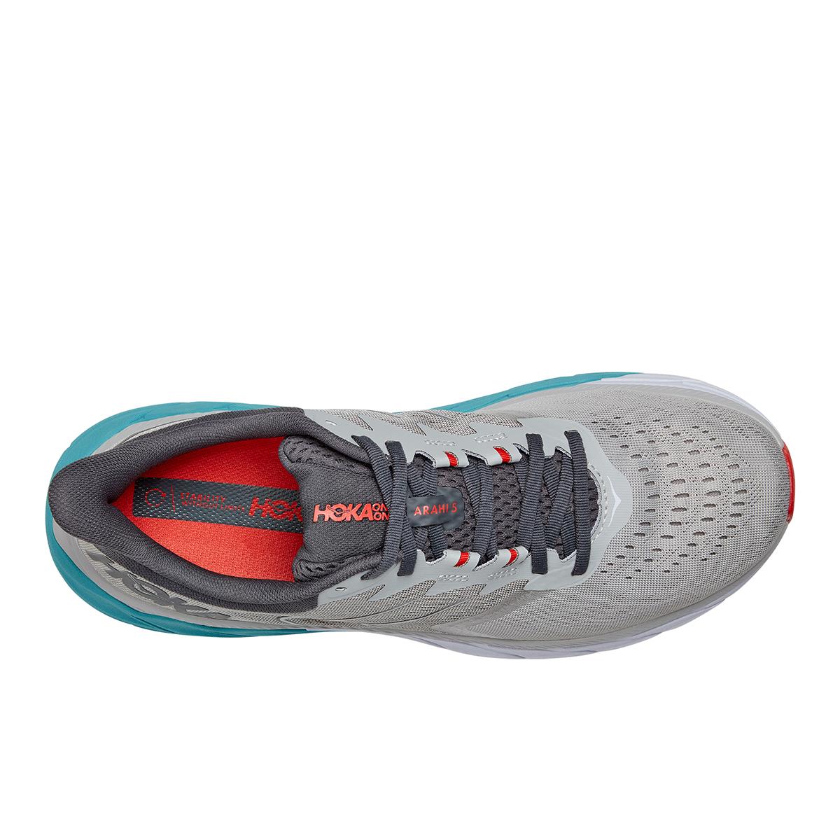 Men's Hoka One One Arahi 5 Running Shoe - Color: Harbor Mist / Aquarelle - Size: 7 - Width: Regular, Harbor Mist / Aquarelle, large, image 3