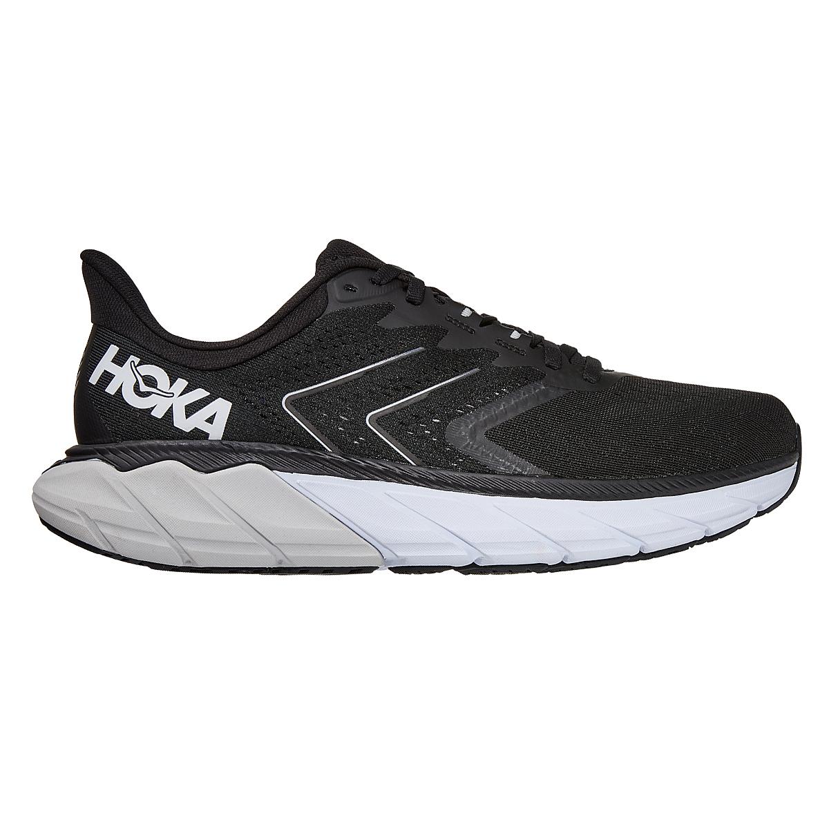 Men's Hoka One One Arahi 5 Running Shoe - Color: Black/White - Size: 7 - Width: Regular, Black/White, large, image 1