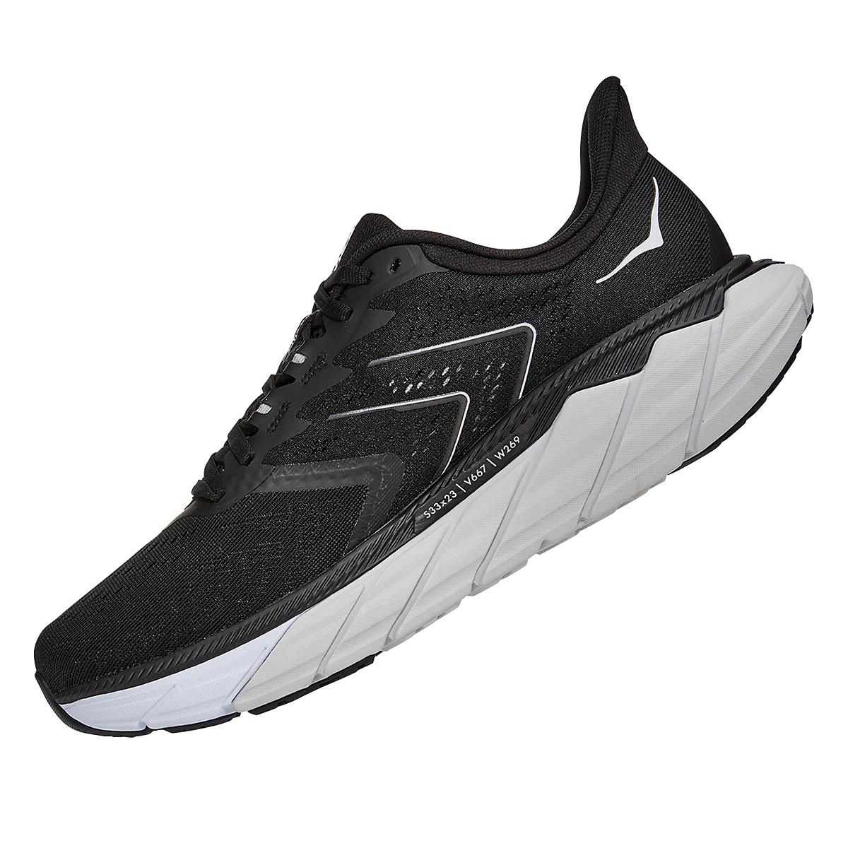 Men's Hoka One One Arahi 5 Running Shoe - Color: Black/White - Size: 7 - Width: Regular, Black/White, large, image 4