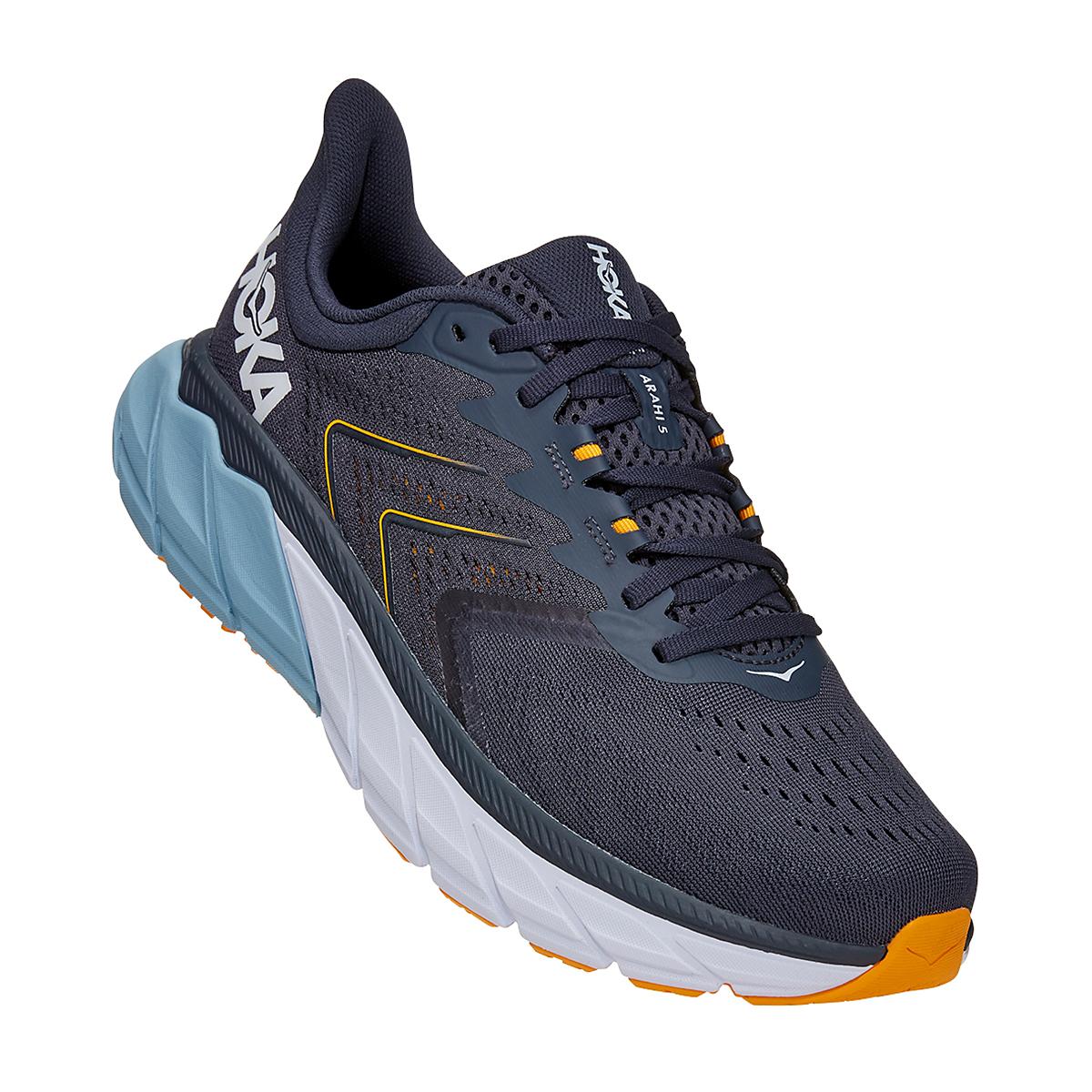 Men's Hoka One One Arahi 5 Running Shoe - Color: Ombre Blue/Blue Fog - Size: 8.5 - Width: Regular, Ombre Blue/Blue Fog, large, image 2
