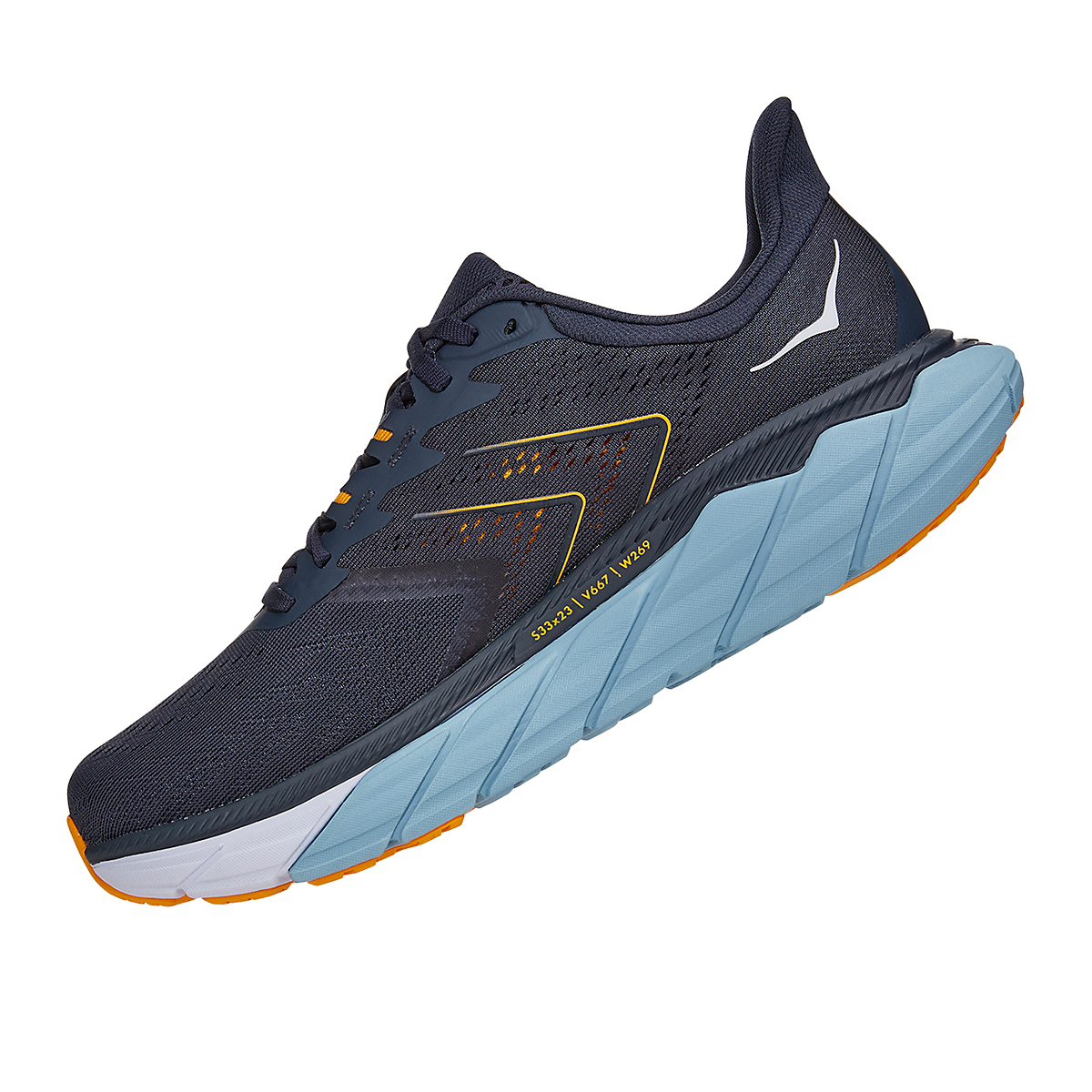 Men's Hoka One One Arahi 5 Running Shoe - Color: Ombre Blue/Blue Fog - Size: 8.5 - Width: Regular, Ombre Blue/Blue Fog, large, image 4