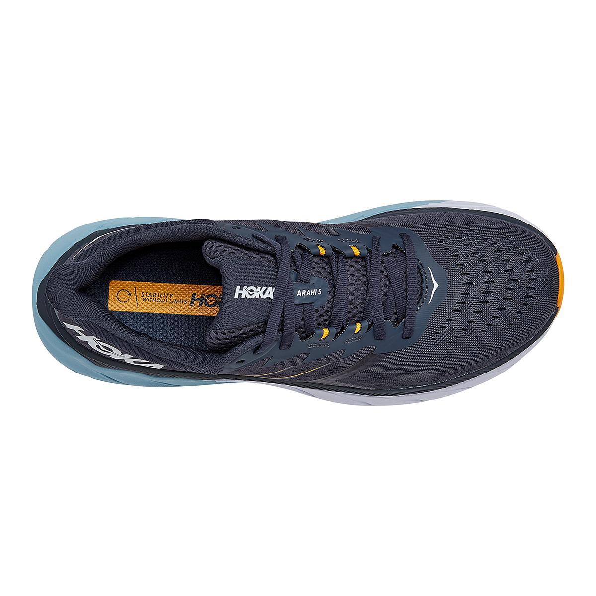Men's Hoka One One Arahi 5 Running Shoe - Color: Ombre Blue/Blue Fog - Size: 8.5 - Width: Regular, Ombre Blue/Blue Fog, large, image 5