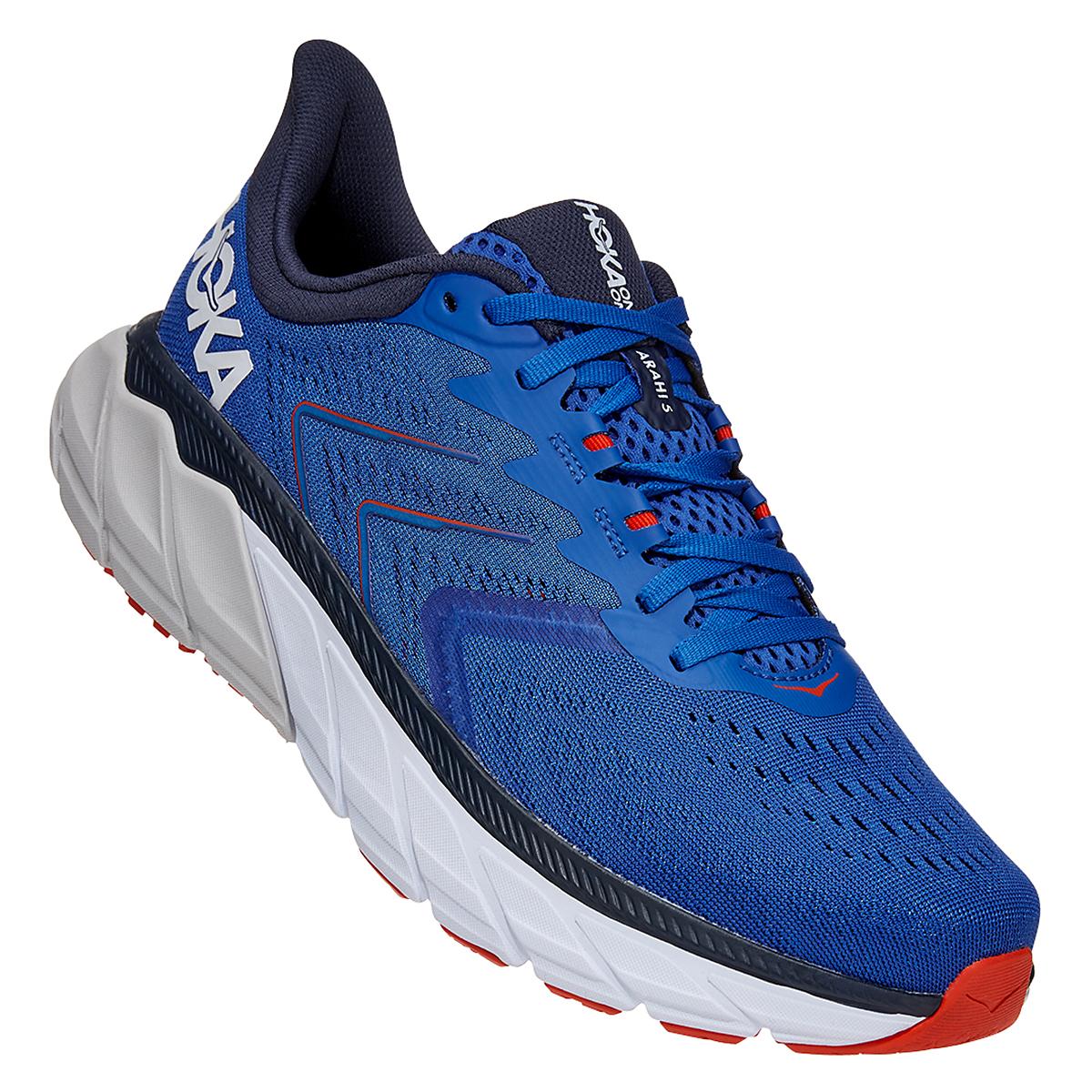 Men's Hoka One One Arahi 5 Running Shoe - Color: Turkish Sea/White - Size: 7 - Width: Regular, Turkish Sea/White, large, image 2