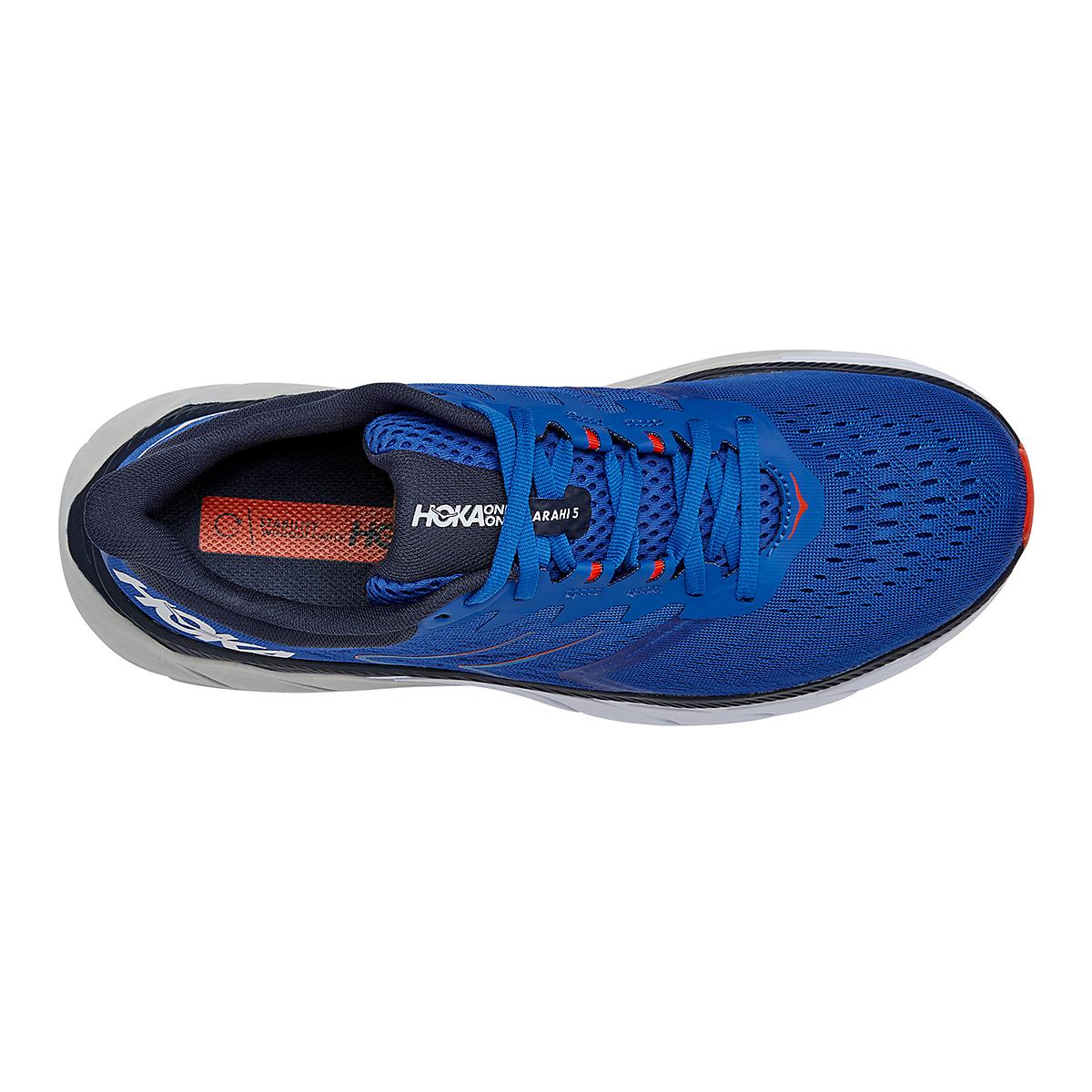 Men's Hoka One One Arahi 5 Running Shoe - Color: Turkish Sea/White - Size: 7 - Width: Regular, Turkish Sea/White, large, image 5