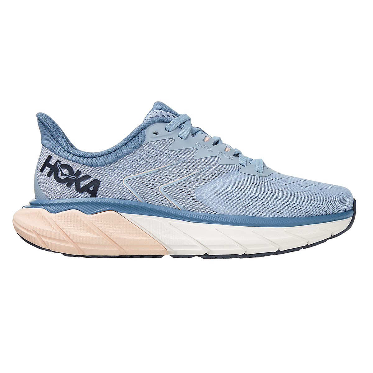 Women's Hoka One One Arahi 5 Running Shoe - Color: Blue Fog/Provincial Blue - Size: 5 - Width: Regular, Blue Fog/Provincial Blue, large, image 1