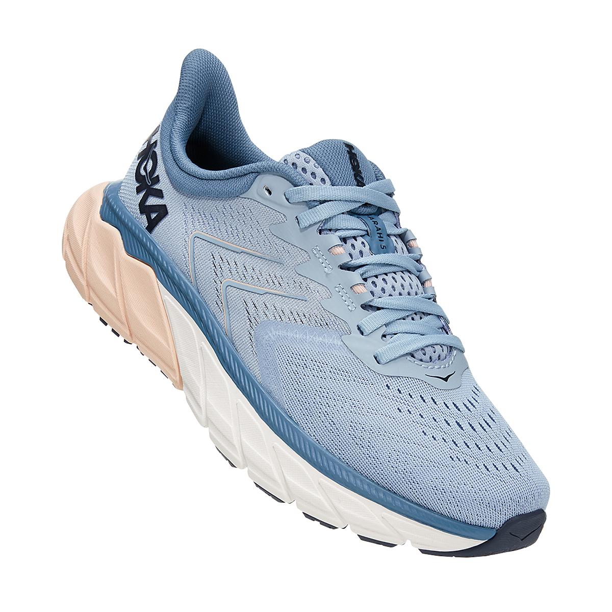 Women's Hoka One One Arahi 5 Running Shoe - Color: Blue Fog/Provincial Blue - Size: 5 - Width: Regular, Blue Fog/Provincial Blue, large, image 2