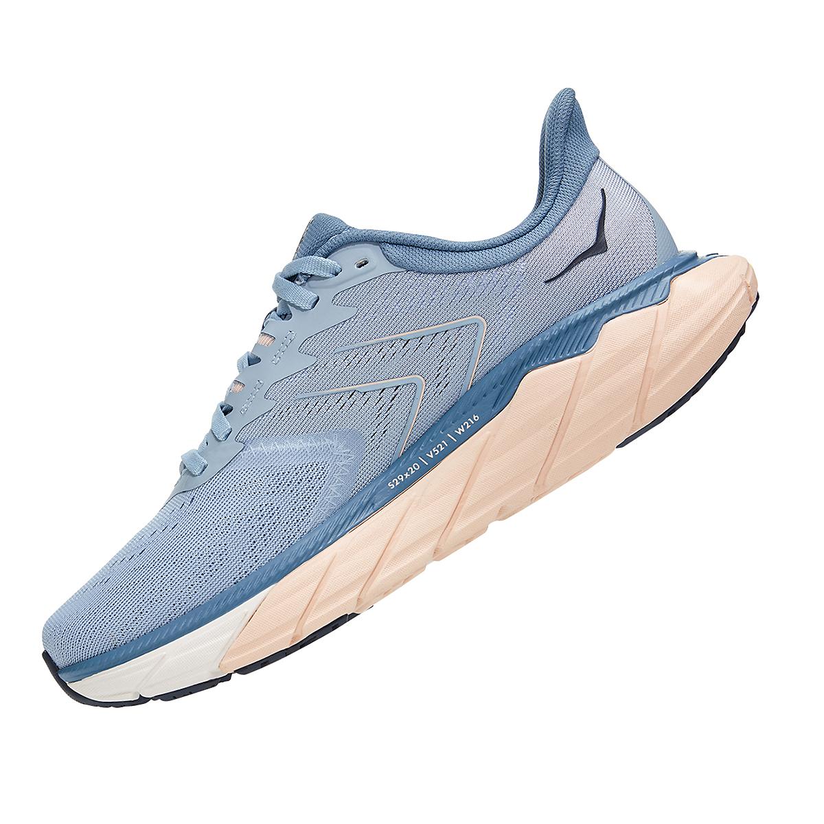 Women's Hoka One One Arahi 5 Running Shoe - Color: Blue Fog/Provincial Blue - Size: 5 - Width: Regular, Blue Fog/Provincial Blue, large, image 4