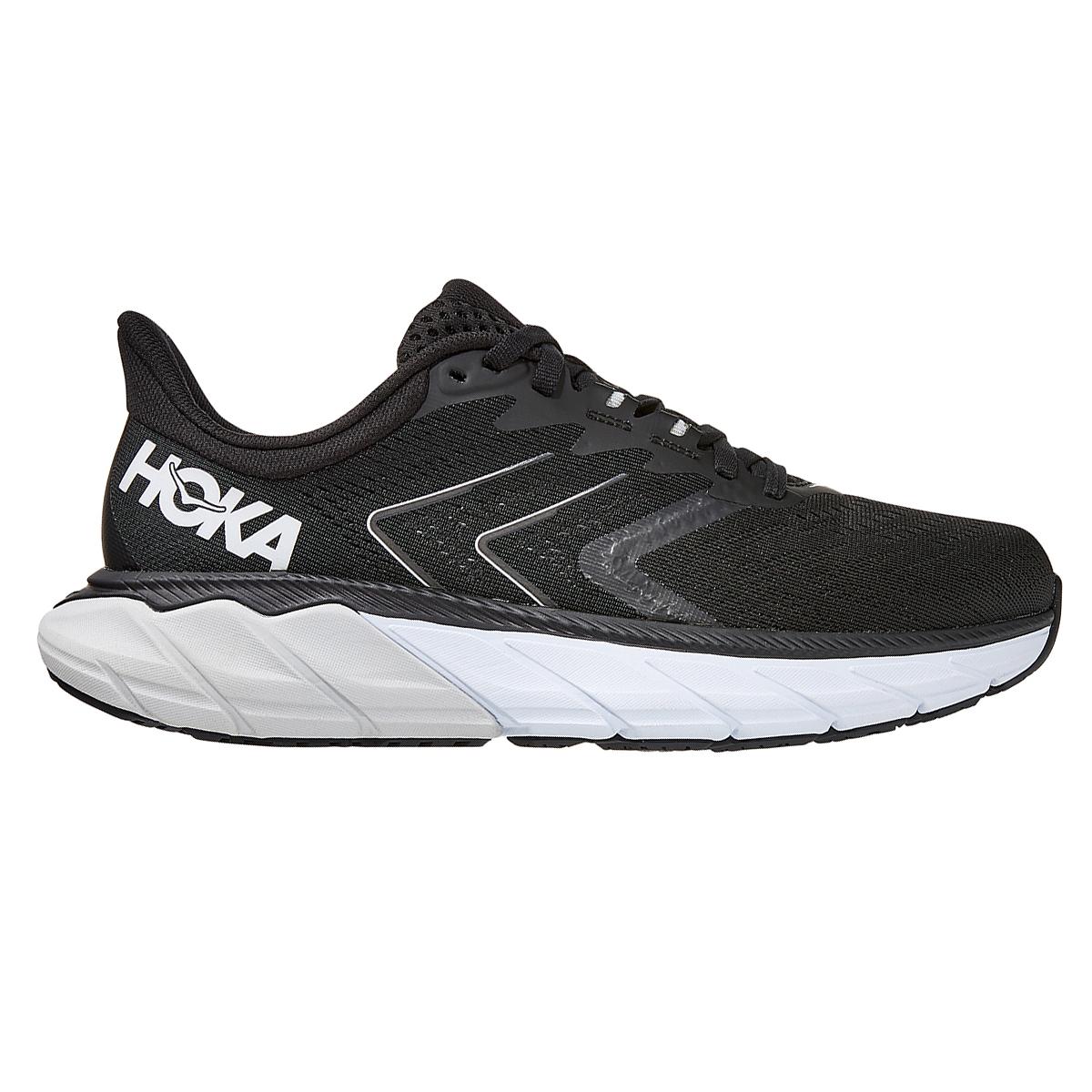 Women's Hoka One One Arahi 5 Running Shoe - Color: Black/White - Size: 5 - Width: Regular, Black/White, large, image 1